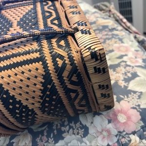 Vintage Bags - Vintage Wicker Woven Box Purse 👜